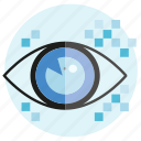 eye, iris scan, scan, secure icon