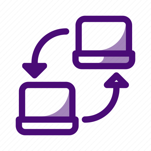 computer, connection, data, link, network, server, technology icon