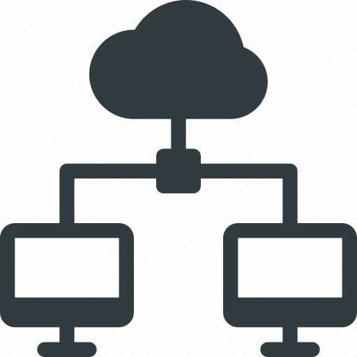 cloud, communication, computing, connection, interaction, network, signal icon