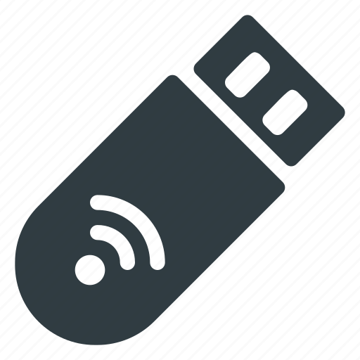flashdrive, receiver, signal, usb, wifi, wireless icon
