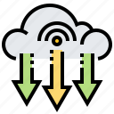 cloud, data, download, information, receive icon