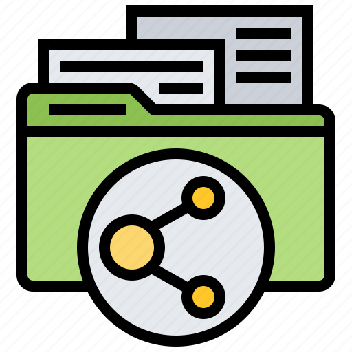 document, file, folder, office, sharing icon