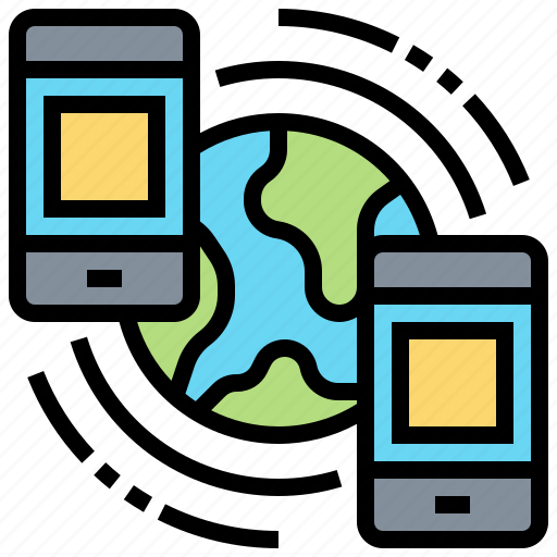 Connection, link, mobile, network, phone icon - Download on Iconfinder