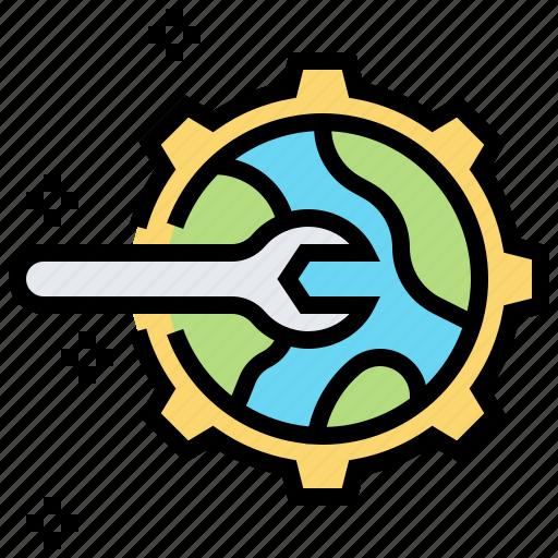 engineer, mechanic, repair, setting, system icon