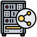 computer, host, network, server, shared icon