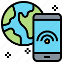 connection, free, internet, smartphone, wifi icon