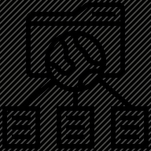 data, folder, sharing, transferring icon