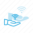 connection, network, share, sharing, signal, wifi, wireless icon