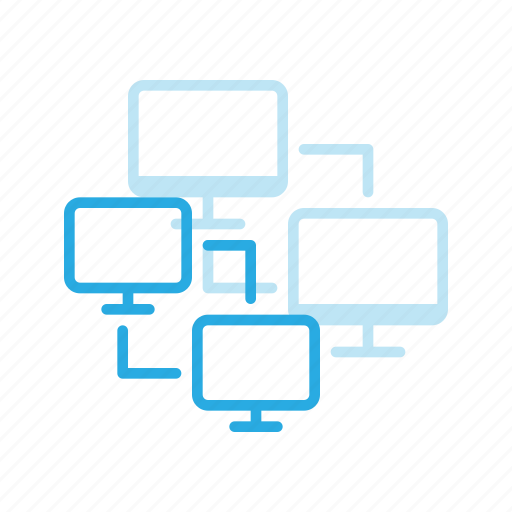 computing, connection, lan, network, web icon