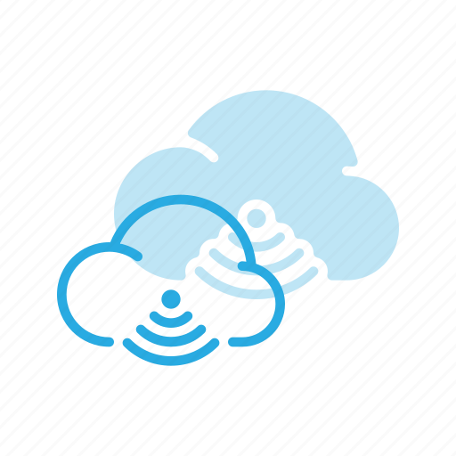 cloud, communication, connection, network, share, signal, wireless icon