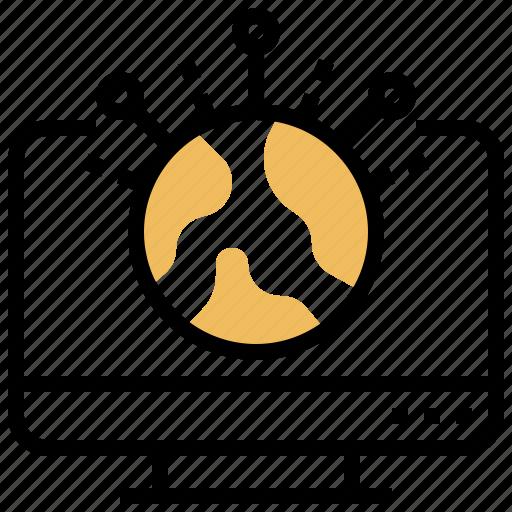Computer, online, technology, wlan, worldwide icon - Download on Iconfinder