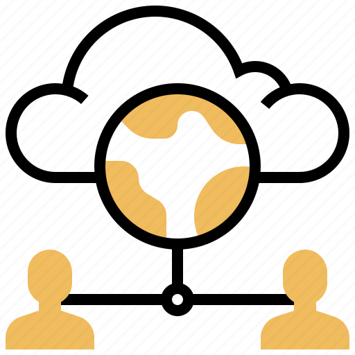 client, cloud, connection, data, user icon