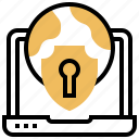 computer, network, protection, safety, security icon