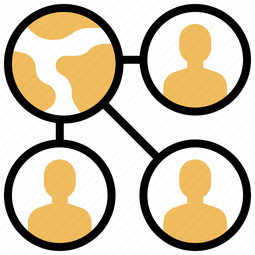 business, network, organisation, social, team icon
