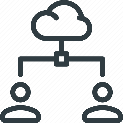 action, cloud, connectionnetwork, document, share, sharing, users icon