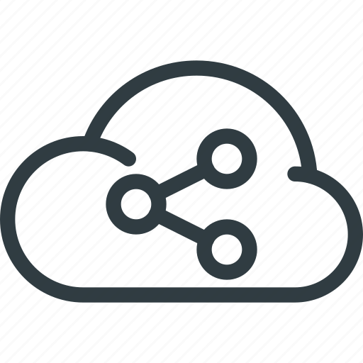 cloud, communication, interaction, network, share, sharing, signal icon