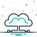 cloud, cloud database, computing, connectivity, network, server, storage icon