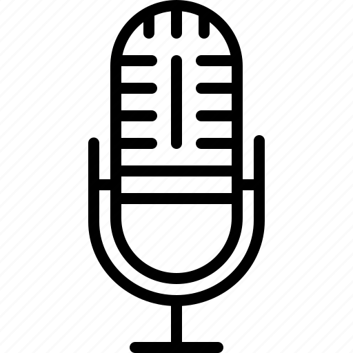 concert, device, microphone, mike, record, speaker, technology icon