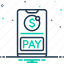 emolument, ewallet, mobile payment, salary, transfer, wage, wallet icon