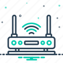 antenna, communication, connection, internet, router, wifi, wireless icon