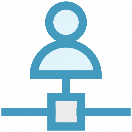 connection, employee, man, network, technology, user icon