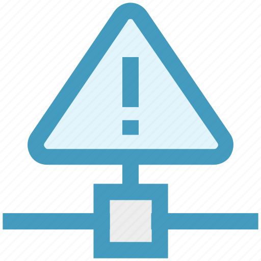 connection, network, sign, technology, triangle, warning icon