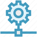 cogwheel, connection, gear, network, setup, technology icon