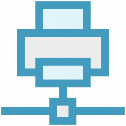 connection, device, fax, network, printer, technology icon