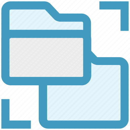 folder, folders, network, sharing, storage, technology icon