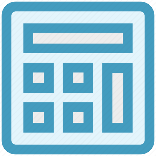 calc, calculation, calculator, counting, math, mathematics, numbers icon