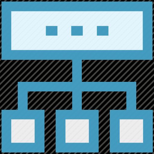 data, database, hosting, network, server, sharing, technology icon
