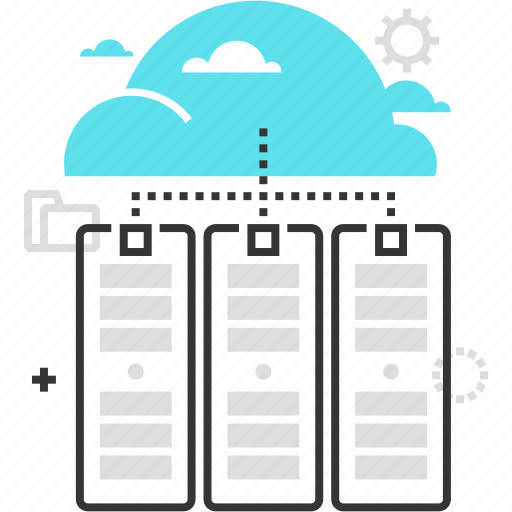 cloud, computer, data, network, router, servers, share icon