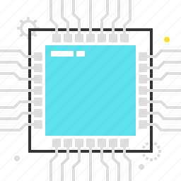 chip, computer, cpu, hardware, mainboard, processor, technology icon