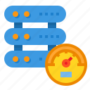 gauge, network, performance, server, speed icon