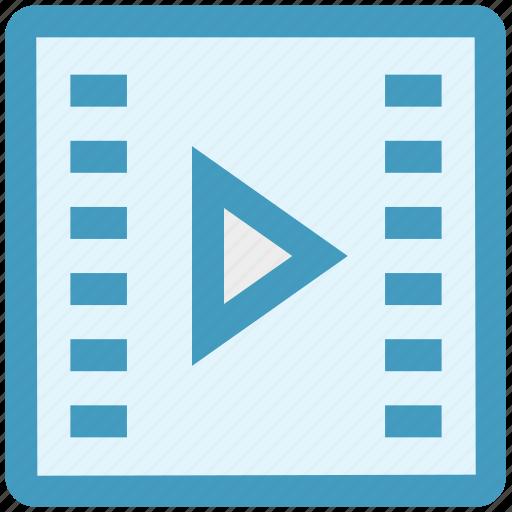 cinema reel, film, media, movie, play, reel, video icon