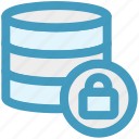 data, database, lock, network, secure, server, storage icon