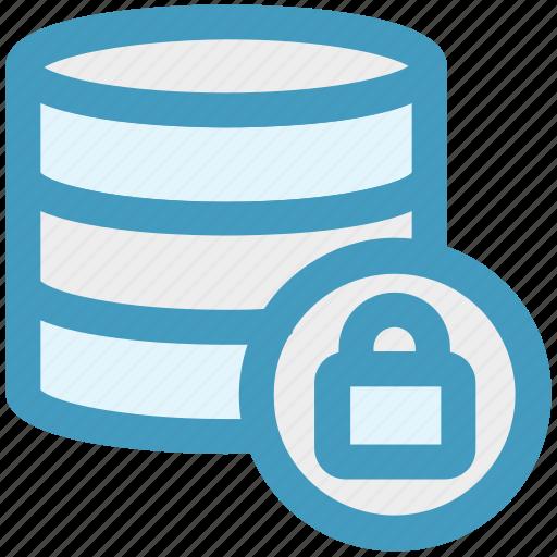 data, database, lock, network, secure, server, storage icon