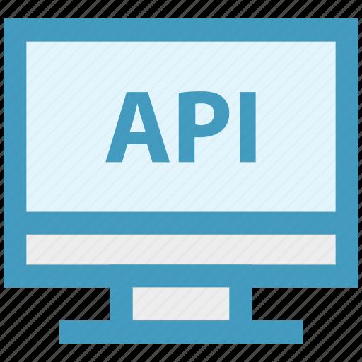 api, application, interface, lcd, network, program, technology icon