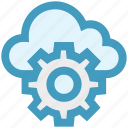 admin, cloud, configuration, gear, setting, share, storage icon