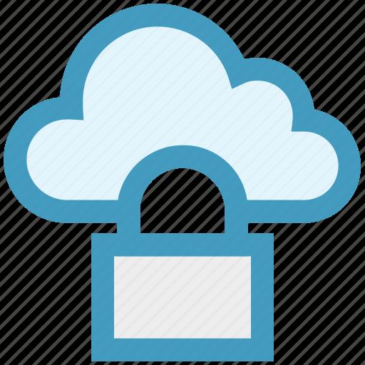 cloud, cloud access, cloud lock, cloud security, lock, protection, security icon