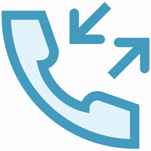 arrows, call, call receive, outgoing, phone, telephone icon