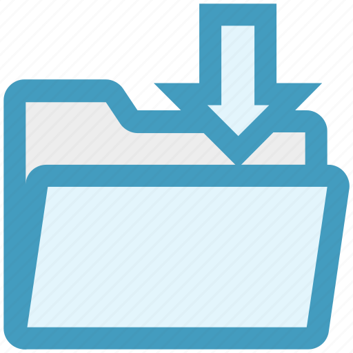arrow, document, down arrow, download, file, folder, network icon