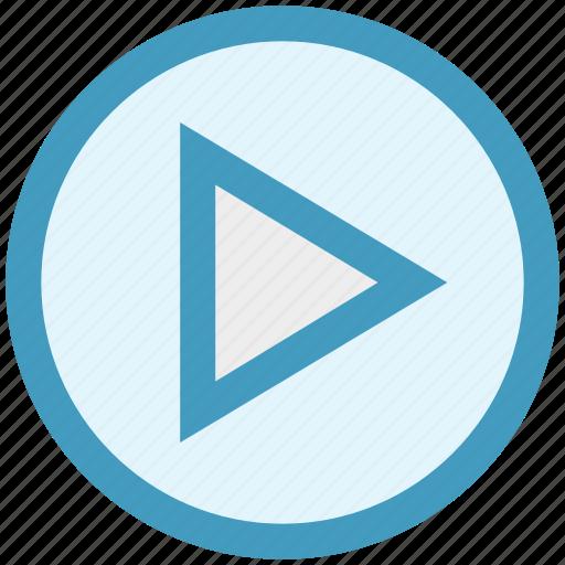 film, media, movie, play, video icon