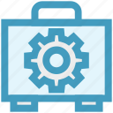 bag, business, cogwheel, engineer, gear, manufacturing, setting