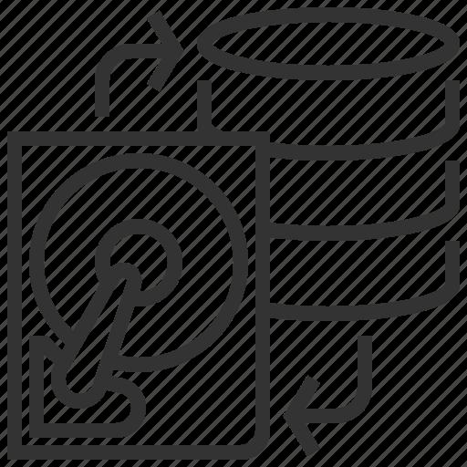 backup, data, database, file, server, storage icon