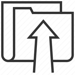 arrow, direction, move, navigation, pointer, up, upload icon