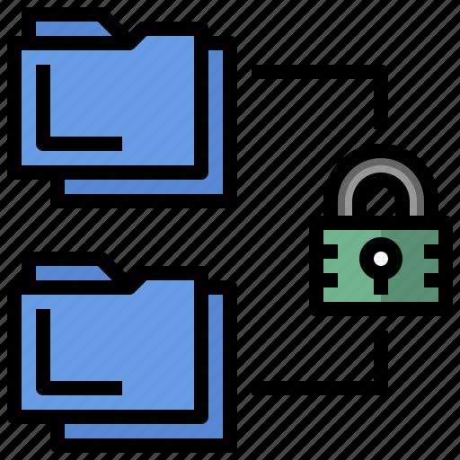 access, files, folder, folders, keyword, password icon