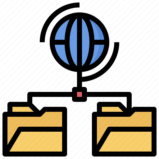 archive, connection, document, files, folder, networking icon