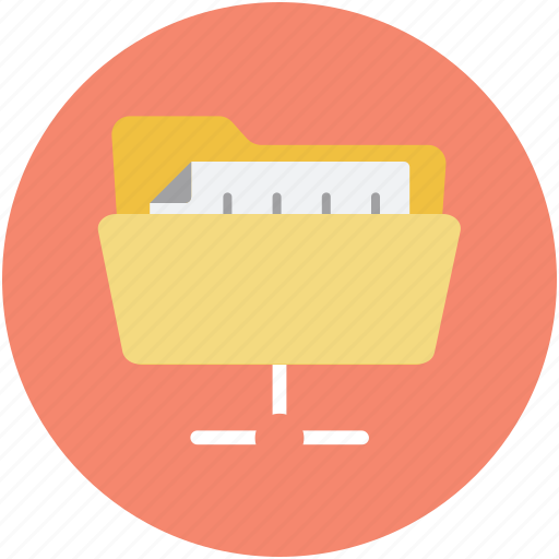 data access, folder sharing, information network, online data, online informations icon