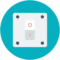 electric switch, electricity, light switch, power switch, toggle switch icon